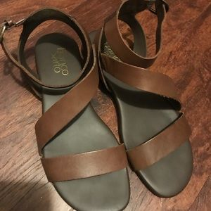 Brown Leather Franco Sarto Sandals